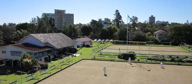 Overlooking the St Lucia Bowling Club
